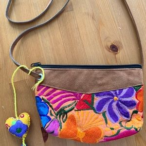 Super cute hand embroidered boho bag